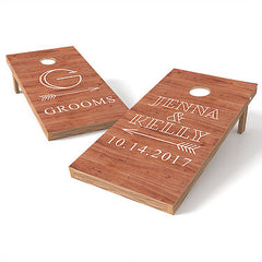 Official Size 2x4 Bride & Grooms Wedding Cornhole Game