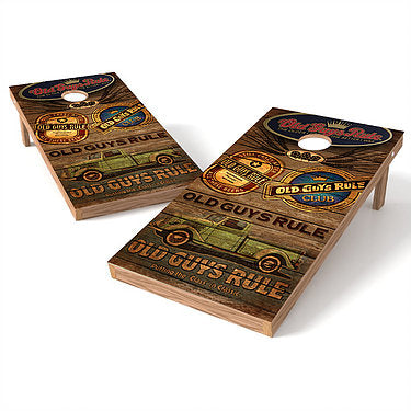 Official Size 2x4 Old Guys Rule Club Cornhole Game