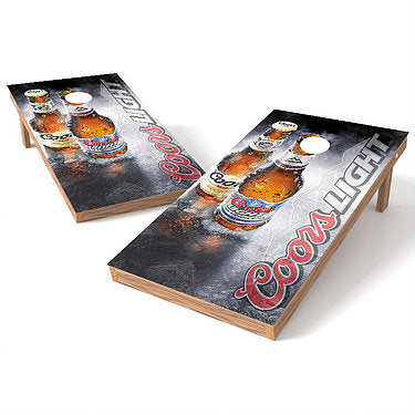 Official 2x4 Coors Light Smoke Cornhole Game