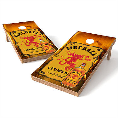 Official 2x4 Fireball Whiskey Cornhole Game