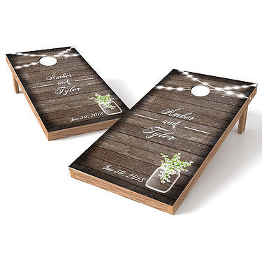 Official Size 2x4 Wedding Celebration Cornhole Game