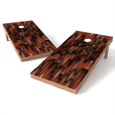 Official Size 2x4 Mahogany Lifted Cornhole Game