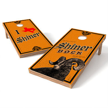 Official 2x4 Shiner Bock Beer Cornhole Game