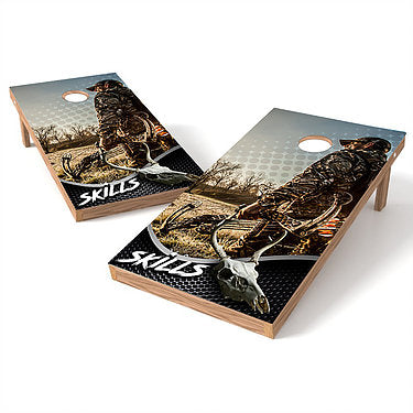 Official Size 2x4 Hunter Skills Skull Cornhole Game