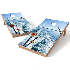 Official Size 2x4 All About Reels Cornhole Game
