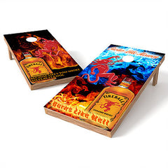 Official 2x4 Fireball Devil Heaven Cornhole Game