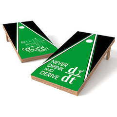 Official 2x4 Never Drink Math Cornhole Game