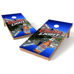 Official 2x4 Coors Light Mountains Cornhole Game
