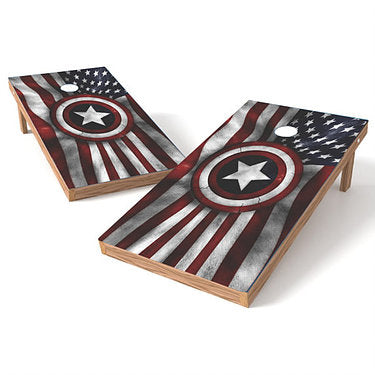 Official Size 2x4 United States Flag with Army Star Cornhole Game