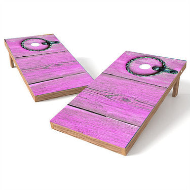 Official Size 2x4 Old Pink Door Handle Cornhole Game