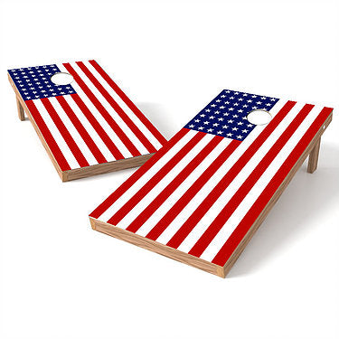 Official Size 2x4 Flat American Flag Cornhole Game