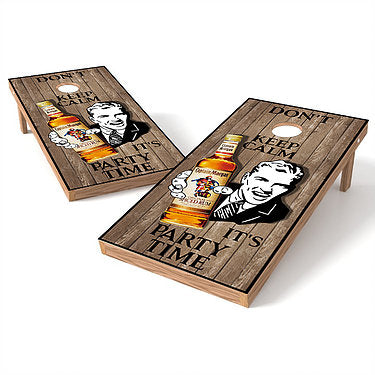Official 2x4 Captain Morgan Rum Party Time Cornhole Game