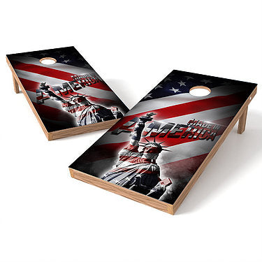 Official Size 2x4 Made in America Statue of Liberty Cornhole Game