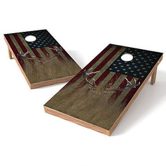 Official Size 2x4 Whitetail Buck Hidden Worn Cornhole Game