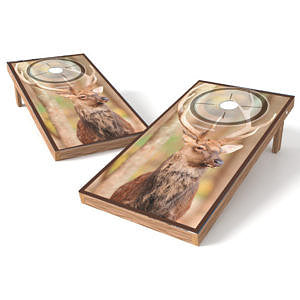 Official Size 2x4 Whitetail Big Buck Target Cornhole Game