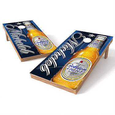 Official 2x4 Michelob Golden Light Cornhole Game