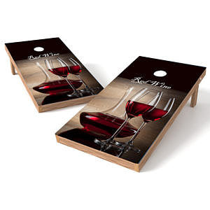 Official 2x4 Red Wine Cornhole Game