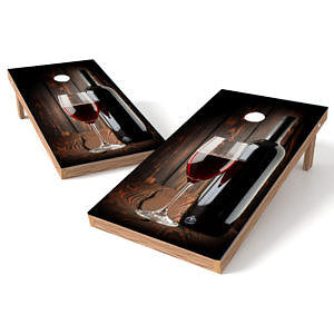 Official 2x4 Wine on Wood Cornhole Game