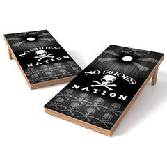 Official Size 2x4 No Shoes Nation Skull Cornhole Game