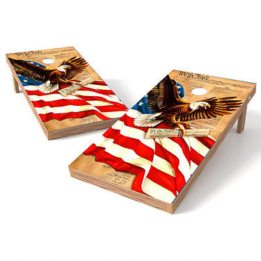Official Size 2x4 Constitution Eagle Cornhole Game