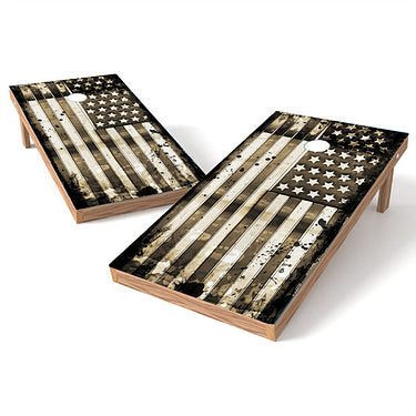 Official Size 2x4 Grunge Stars and Stripes Cornhole Game