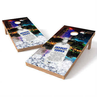 Official 2x4 Absolut Vodka Cityscape Cornhole Game