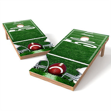 Official Size 2x4 Football 50 Yard Line Cornhole Game