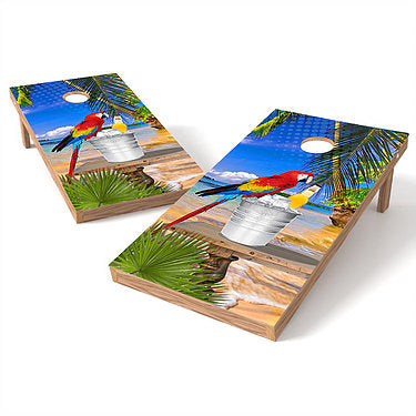 Official 2x4 Beach Parrot Cornhole Game
