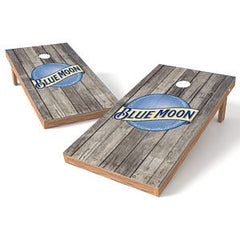Official 2x4 Blue Moon on Wood Cornhole Game