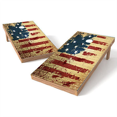 Official Size 2x4 Independence Grunge Cornhole Game