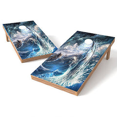 Official Size 2x4 Marlin Storm Cornhole Game