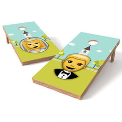 Official Size 2x4 Emoji Wedding Cornhole Game