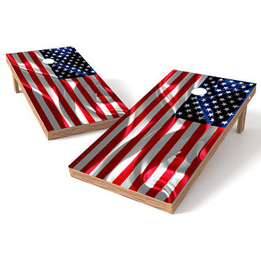 Official Size 2x4 American Cloth Flag Cornhole Game