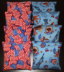 Hand Made 6x6 Inch Official Size Republican Cornhole Bags (set of 8)