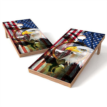 Official Size 2x4 American Eagle Cornhole Game