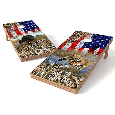 Official Size 2x4 Hunting Dog Cornhole Game