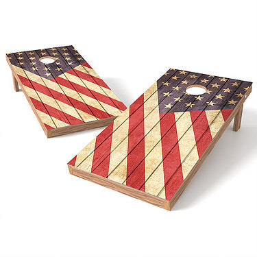 Official Size 2x4 Rustic Flag Cornhole Game