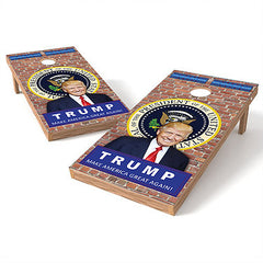 Official Size 2x4 Trump Cornhole Game