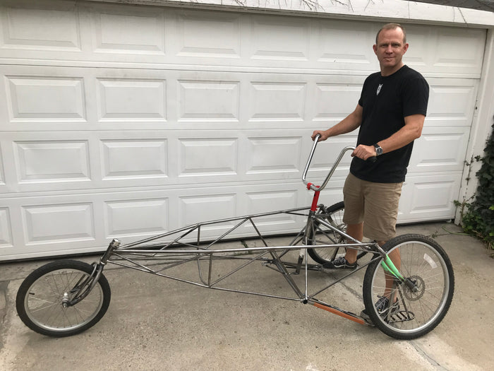 "Jared Builds Custom MADSEN ""Chariot"" to Carry Brother in Marathon"