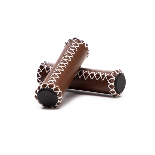 Leather-Look Honey-Colored Grips (Set of 2)