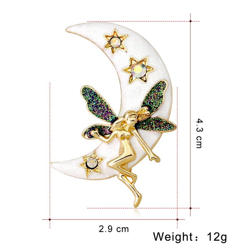 f3d1b134fa6 ... Load image into Gallery viewer, Vintage Simulated Pearl Crystal Cat  Frog Bee Moon dragonfly butterfly ...