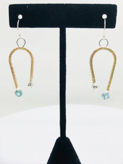 Blue Topaz Gold Filled Earrings