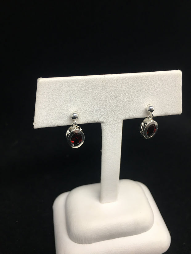 Idaho Garnet Dangle Earrings