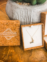 Small Silver Hayden Lake Necklace