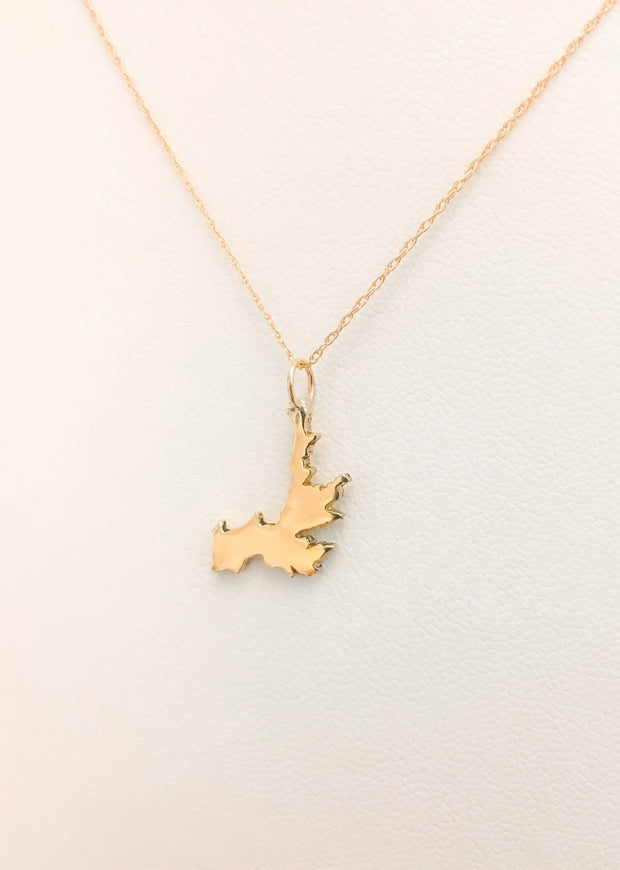 Small 14k Gold Hayden Lake Necklace