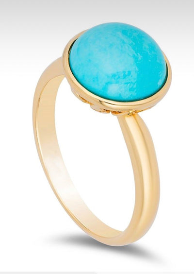 Sleeping Beauty 10mm Round Turquoise Ring