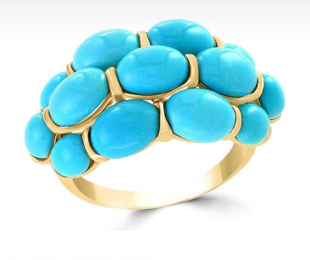 Sleeping Beauty Turquoise Oval Ring
