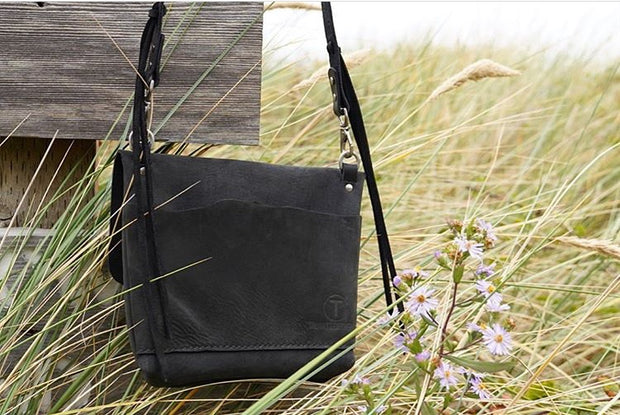 Black Leather Crossbody