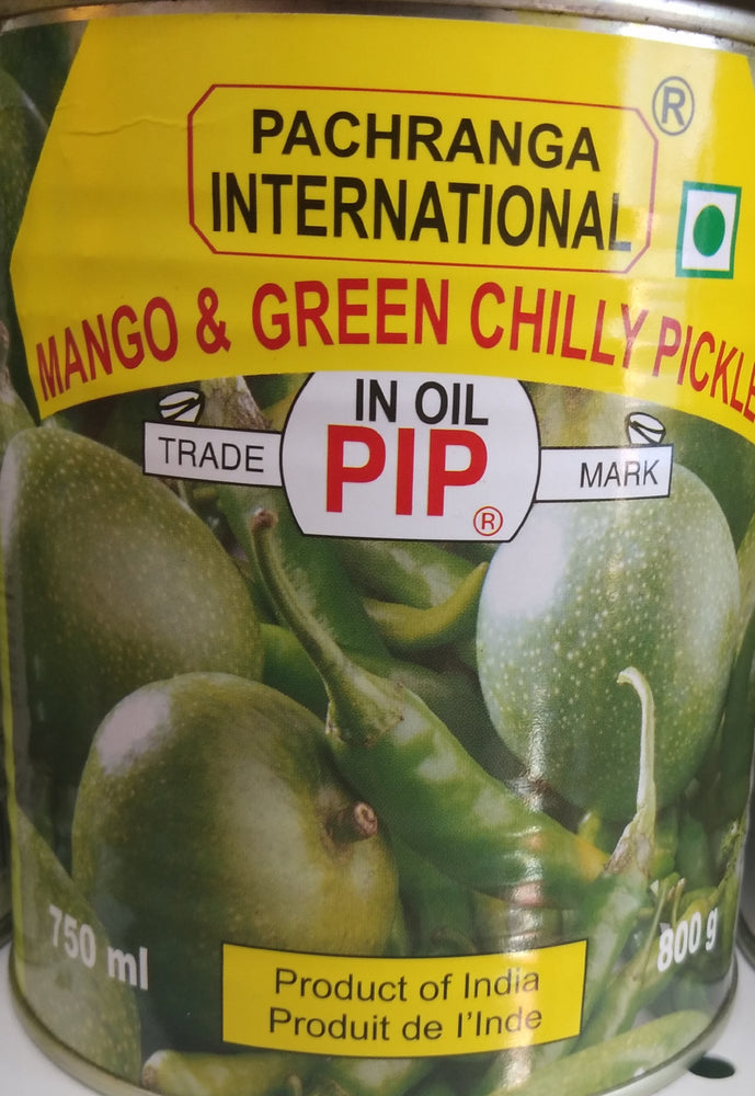 PIP Mango & Green Chili Pickle 800gm (can)