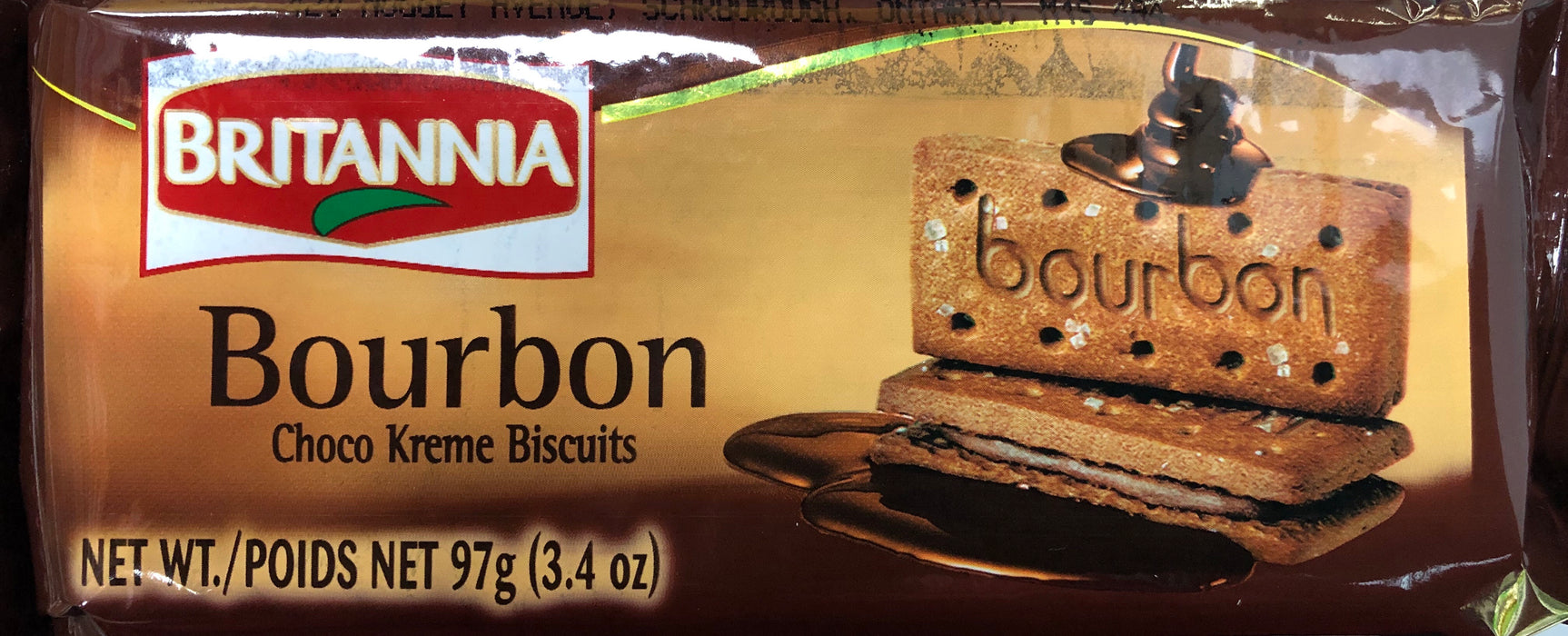 Britannia Bourbon Cream Treat Biscuits 97g